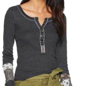 Tops - Free People Railroad Henley Med